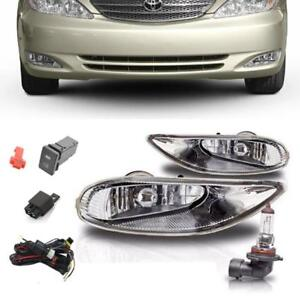 For Toyota 02 04 Camry 05 08 Corolla Clear Bumper Driving Fog Lights Lamp switch