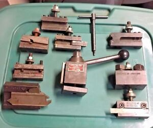 Aloris Axa Holder Set Metal Lathe Tool Post With Wedges For Southbend Atlas Jet