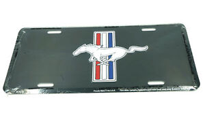 Ford Mustang Pony Black Licensed Aluminum Metal License Plate Sign Tag New