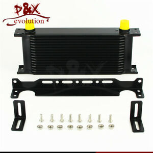 Aluminum 16 Row Mocal Type An10 Engine Oil Cooler 248mm Mounting Bracket Kit