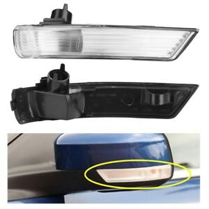 2x Wing Mirror Indicator Turn Signal Light Clear Lens Cover For Ford Focus 08 16