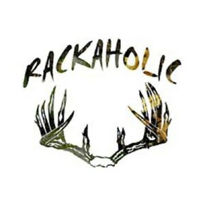 Rackaholic Camo Decal Deer Antler 6x5 Or 11x9
