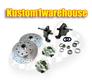 Vw Front 2 5 Dropped Lower Spindle Disc Brake Conversion Kit 5 X 4 1 2 Ford