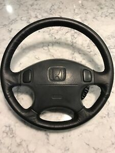 1996 2000 Honda Civic Oem Steering Wheel With Cruise Control Mint