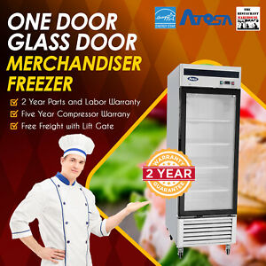 Atosa Usa Mcf8701 27 One Glass Door Merchandiser Freezer Restaurant Equipment