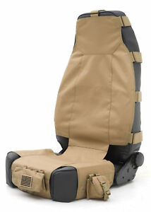 New Coyote Tan Smittybilt Gear Seat Cover 7 Pouches For Jeep Wrangler 1987 2017