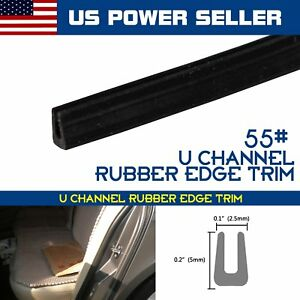 600inch Pvc Rubber Seal Trim U Channel Black Car Auto Edge Protect Weatherstrip