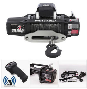 New Smittybilt X2o 10000lbs Comp Waterproof Wireless Winch With Synthetic Rope
