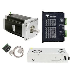 1 Axis Nema 34 Stepper Motor 1600 Oz in 150mm 3 5a driver Controller Cnc Kit