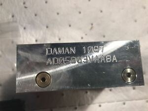 Daman Valve Adaptor For D03 Manifold Ad05d03vaaba 1097
