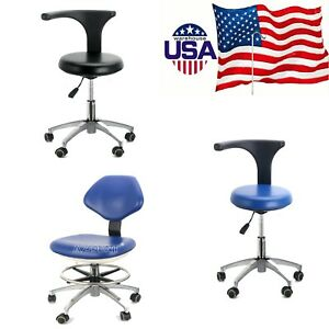 Dental Doctor Assistant Stool Mobile Chair Adjustable Medical Stool Pu Leather