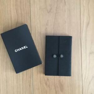 Chanel Notepad Mini Notebook Black Suede With Box New