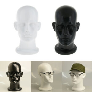 Mannequin Head Wig Sunglasses Eyeglasses Display Model Holder White Black