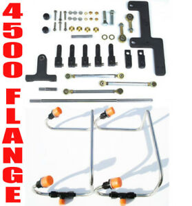 Dual Inlet 4500 Mech Dom Blower Fuel Lines Black Color Kit Holley Linkage Combo