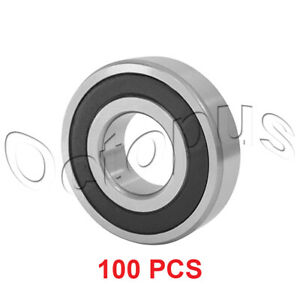 100 Pcs Premium 6002 2rs Abec3 Rubber Sealed Deep Groove Ball Bearing 15x32x9mm