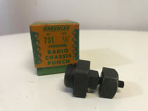 Greenlee Radio No 731 Chassis Knockout Punch 1 2 Square