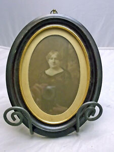 Vintage Edwardian Or Victorian Oval Picture Frame Photo