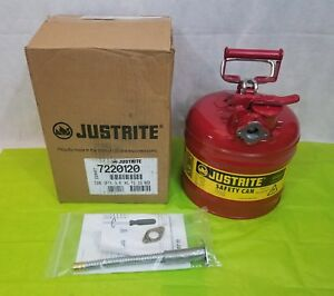Justrite Type Ii Accuflow 2 Gallon Gasoline Safety Can