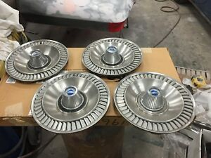 1964 Ford Galaxie 500 14 Hubcaps Set Of 4 1961 1962 1963