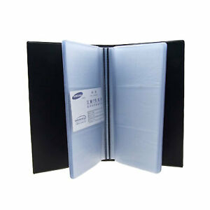 Book Style 144 Pockets Business Id Name Credit Card Holder Organizer Black Clear