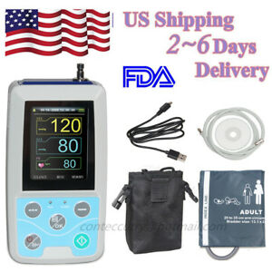 Contec Ambulatory Blood Pressure Monitor Abpm50 24h Nibp Holter software Ce fda