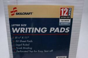 Lot Of 4 Skilcraft Nsn4471353 4471353 Writing Pad Legal Rule 50 Shts