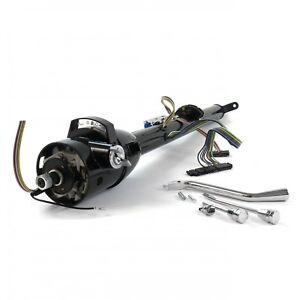 33 Inch Black Gm Style Tilt Steering Column Floor Shift With Key Hot Rods