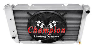 3 Row Ar Champion Radiator W 16 Fan For 1971 1973 Ford Mustang