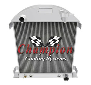 2 Row Ar Champion Radiator For 1928 1929 Ford Model A Chevy Configuration