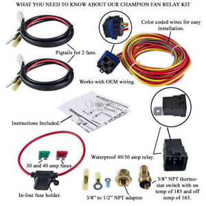 Advanced Champion Electric Fan Relay Kit