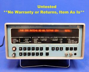 Tau tron S5200d Digital Transmission Test Set Opt 02 03 Untested Item As Is