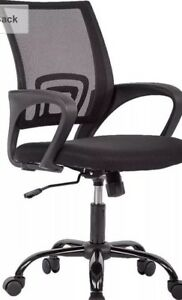 Ergonomic Mesh Computer Office Desk Midback Task Chair W metal Base One Pack