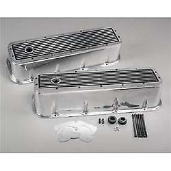 Edelbrock Elite Series Aluminum Valve Covers tall 4281 Bbc