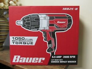 New Bauer 1 2 Heavy Duty Corded Impact Wrench 1882e B