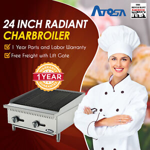 Atosa Usa Atrc 24 24 Radiant Charbroiler Natural Gas Restaurant Equipment