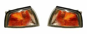 1997 2002 Mitsubishi Mirage Cpe Park Signal Lamp Light Left Right Pair Set