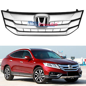 For Honda Crosstour 2013 2014 2015 Front Bumper Cover Sliver Mesh Grille Grill