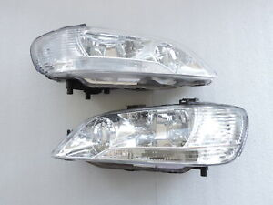 New 2002 2003 Mitsubishi Lancer Ls Es Sedan Wangon Black Head Light Headlights