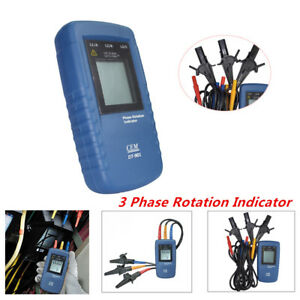 Functional Three Phase Rotation Indicator Tester Meter 40 960v Ac Catiii 600v