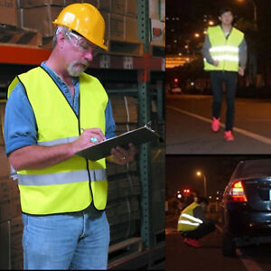 Lots Safety Vest Neon Reflective Traffic Construction Warehouse High Visibility