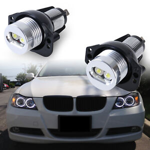 Led Angel Eye Halo Ring Marker Light Bulb 20w For Bmw E90 E91 With Error Free