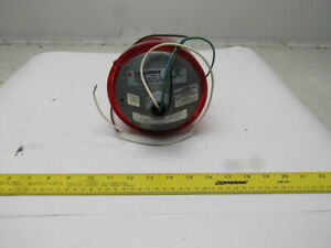 Federal Signal 225 120r Electraray Red Rotating Beacon Alarm Light 120vac