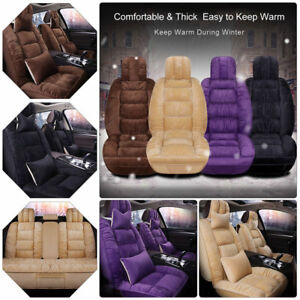 Premium Short Plush Car Winter Warmer Seat Cover Universal 5 seats Cushions Set