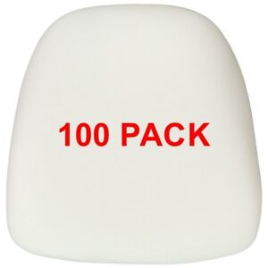 100 Pack Hard Ivory Fabric Chiavari Chair Seat Cushion For Wood And Resin Chairs