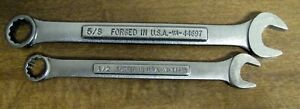2 Craftsman Combination Wrenches 1 2 Vv 44695 5 8 Vv44697 Usa Very Nice