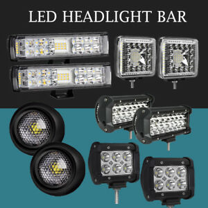 2x 7 5 Inch 400w Led Work Light Bar Flood Pods Driving Offroad Tractor 4wd 12v