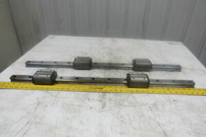 Thk Hsr35hb 36 1 4 Long Linear Rail W 2 Bearing Blocks Lot Of 2