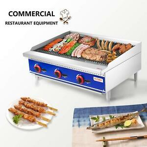 36 Lava Rock Charbroiler Natural Gas Char Rock Broiler With Grill Restaurant