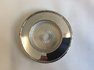 Silver Plated Butter Dish With Glass Liner