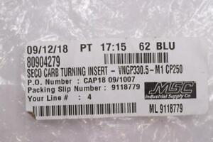 Lot Of 6 Seco Cp250 Vngp330 5 M1 Grade Carbide Turning Insert